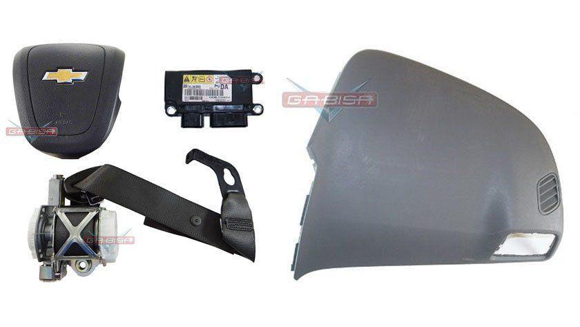 Kit Air Bag Bolsa Motorista e Passageiro do Painel Modulo Cinto Cobalt Ltz 015 016 017