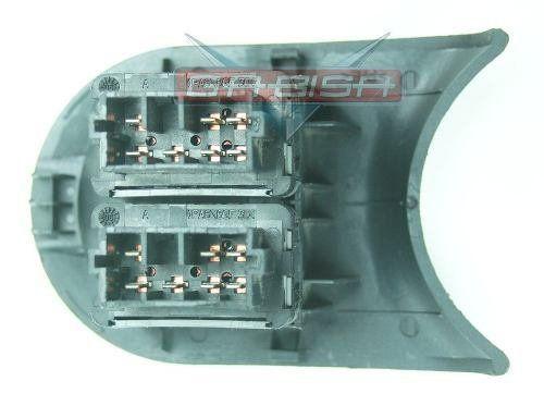 Conjunto Botão Interruptor De Vidro Elétrico Traseiro Do Console Com Moldura Grafite Citroen C3 03 04 05 06 07 08 09 010 011