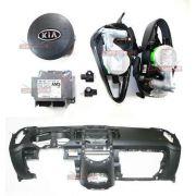 Kit Air Bag Kia Soul 11 13 Bolsa Modulo Cinto Painel Preto