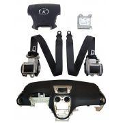 Kit Air Bag do Painel Bolsa Motorista e Passageiro Par de Cintos Modulo e Tabelier Jac J6 011 012 013 014