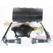Kit Air Bag Bolsas Fechos De Cinto Modulo Moldura Gm Vectra