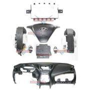 Kit Air Bag do Painel Bolsa Motorista e Passageiro Modulo Par de Cinto e Sensor Hyundai Hb20 S 015 016 017 018