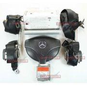 Kit Air bag Modulo Cintos Bolsas Sem Moldura do Painel Mercedes Classe A 99 00 01 02 03 04