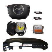 Kit Air Bag Bolsa Motorista e Passageiro Par de Cintos Modulo Tabelier Painel Sensores Audi A6 01 02 03 04