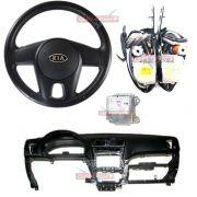 Kit Air Bag Bolsas Cintos Modulo Painel p Kia Picanto 010 011