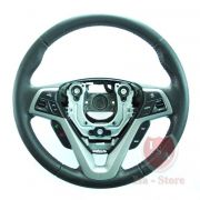 Aro Volante Couro Som Piloto Telefone Hyundai Veloster 013 014