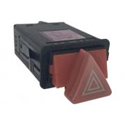 Botão do Painel Interruptor de Luz de Emergência Pisca Alerta 4b0941509e Audi A6 98 99 00 01 02 03