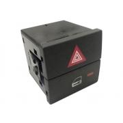 Botão do Painel Interruptor de Trava e Pisca Alerta Luz de Emergência 93332974 Gm Meriva 03 04 05 06 07 08 09 010 011 012