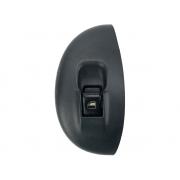 Botão Interruptor de Vidro Elétrico Fundo Preto com Moldura Porta Dianteiro Direito Passageiro Fiat Palio Strada Siena G1 96 97 98 99 00 01