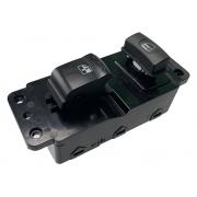 Conjunto Botão Interruptor de Vidro Elétrico e Trava Preto Dianteiro Direito Porta Passageiro 202005300 Ssangyong Actyon 08 09 010 011