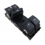 Conjunto Botão Interruptor de Vidro Elétrico Motorista 1K4959857C Vw Jetta Amarok 06 07 08 09 010 011 012 013 014 015 016 017 018