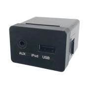 Entrada Conector Usb Ipod Auxiliar do Sistema de Som do Painel 961204d601 Hyundai Tucson 08 09 010 011 012 013 014 015 016