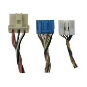 Kit 3 Plug Conector Chicote do Comando Controle de Ar Condicionado do Painel Botão de Pisca Alerta e Desembaçador Led Verde 972501s030 Hyundai Hb20 012 013 014 015 016 017 018