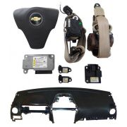 Kit Air Bag Captiva 09 Bolsa Modulo Cinto Sensor Painel GM