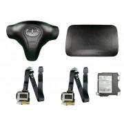 Kit Air Bag do Painel Bolsa do Motorista e Passageiro Par de Cintos de Segurança e Modulo Plug Verde Jac J2 012 013 014 015 016