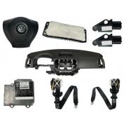 Kit Air Bag do Painel Bolsa Motorista e Passageiro Modulo Par de Cintos e Par de Sensores Vw Tiguan 010 011 012 013 014 015 016