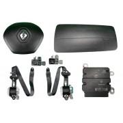Kit Air Bag do Painel Bolsa Motorista e Passageiro Modulo Par de Cintos e Sensores Renault Kwid 018 019 020 021