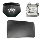 Kit Air Bag do Painel Bolsa Motorista Passageiro e Modulo Lifan 620 Talent 011 012