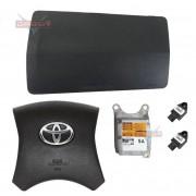 Kit Air Bag do Painel Grafite Bolsa Motorista Passageiro Modulo e Sensores de Colisão Toyota Hilux 012 013 014 015