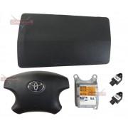 Kit Air Bag do Painel Grafite Bolsa Motorista Passageiro Modulo e Sensores de Colisão Toyota Hilux Srv 06 07 08