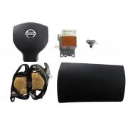 Kit Air Bag Duplo do Painel Bolsa Motorista Passageiro Modulo Sensor de Colisão Par de Cintos Nissan Livina 011 012 013 014