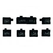 Kit Tecla Botão do Comando Controle de Ar Condicionado Digital 2 Plug do Painel Botões Teclas 093383356 Gm Vectra 06 07 08 09 IAG