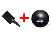 Kit Plug + Botão do Painel Interruptor de Abertura Do Porta Malas AS6519B514AA Ford Fiesta Class 08 09 010 011 012 013 014