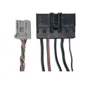 Kit 2 Plug Conector Chicote do Comando Controle de Ar Condicionado do Painel 7m5t19980ab 7m5t19980ad Ford Focus 09 010 011 012 013