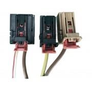 Kit 3 Plug Conector Chicote do Modulo Amplificador de Antena 5q0035570 Vw Golf 014 015 016 017 018 019