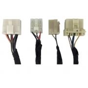 Kit com 4 Plug Conector Chicote do Comando Controle de Ar Condicionado Desembaçador Traseiro do Painel ps118112010 ps118112910 ps113744910 Chery QQ 011 012 013 014