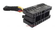 Plug Conector Chicote 17 Vias 12 Fios 1j0972999 do Botão Interruptor de Lanterna Farol Milha Neblina do Painel 6q0941531c Vw Polo 03 04 05 06 07 08 09 010 011 012