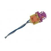 Plug Conector Chicote 2 Vias 2 Fios da Bolsa Air Bag Cortina de Teto Lateral Direito 3c0880742c Vw Jetta 07 08 09 010