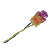 Plug Conector Chicote 2 Vias 2 Fios da Bolsa Air Bag Cortina de Teto Lateral Esquerdo 3c0880741c Vw Jetta 07 08 09 010