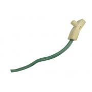Plug Conector Chicote 2 Vias 2 Fios do Cinto de Segurança Traseiro Esquerdo Pré Tensionador do Air Bag 4b5857805 Audi A6 01 02 03 04