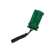 Plug Conector Chicote 2 Vias 2 Fios do Sensor de Colisão Impacto Frontal Crash Sensor Air Bag 618293300 9666370880 Citroen C3 013 014 015 016 017 018 019