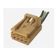 Plug Conector Chicote 4 Vias 3 Fios do Botão Interruptor de Vidro Elétrico Esquerdo Do Painel 5u0959855a Vw Gol Voyage G5 09 010 011 012