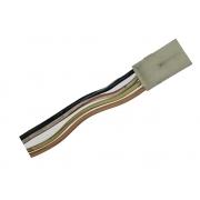 Plug Conector Chicote 4 Vias 4 Fios do Relógio de Horas Digital Reloginho Central do Console de Teto Fiat Uno Premio Elba 84 85 86 87 88 89 90 91 92 93 94