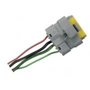 Plug Conector Chicote 6 Vias 4 Fios do Modulo Motor de Controle de Vidro Elétrico da Porta Dianteira Direita 400595r Citroen Xsara Picasso 99 00 01 02 03 04 05 06 07 08 09 010 011 012