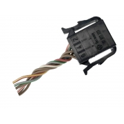 Plug Conector Chicote 6 Vias e 6 Fios 191972723 do Botão Interruptor de Vidro Elétrico Duplo Dianteiro Esquerdo Motorista 1h0959855 Vw Golf 94 95 96 97 98