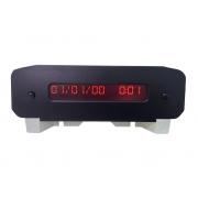 Relógio Central Visor Digital de Horas Data Marcador de Portas Abertas no Painel Sagem 216687488 9646005377 Peugeot 206 98 99 00 01 02 03