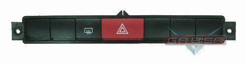 Conjunto Botão Central do Painel Interruptor Pisca Alerta Luz de Emergência e Desembaçador Traseiro 7354422900 Fiat Punto 08 09 010 011 011 012