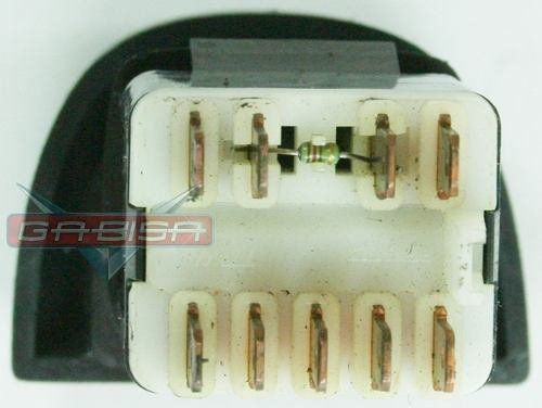 Botão Interruptor De Pisca Alerta Do Painel Luz de Emergência 9 Pinos Renault Scenic 98 99