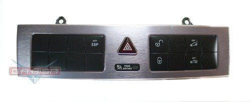 Conjunto Botão De Alerta Alarme Esp Trava Do Painel 2038707910 Original Mercedes Clc 200k 09 010