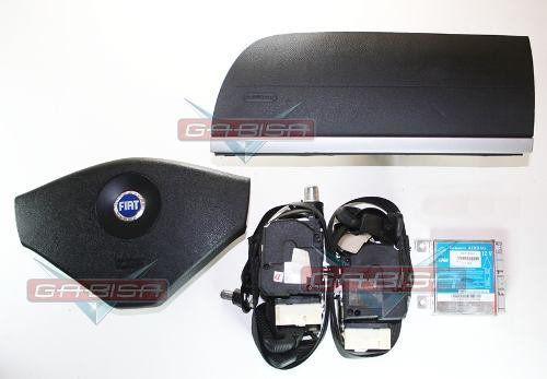 Kit Air Bag Palio Strada Siena G3 Idea Bolsas Emb Azul Cintos