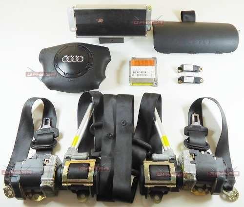 Kit Air Bag Bolsas Cintos Modulo Moldura do Painel Sensores Audi A3 97 98 99