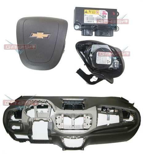 Kit Air Bag Bolsa Motorista e Passageiro Modulo Painel Tabelier Cinto de Segurança Gm Spin 012 013 014 015