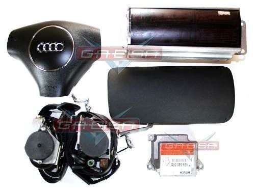 Kit Air Bag Bolsas Cintos Modulo Moldura do Painel Audi A3 01 02 03 04 05