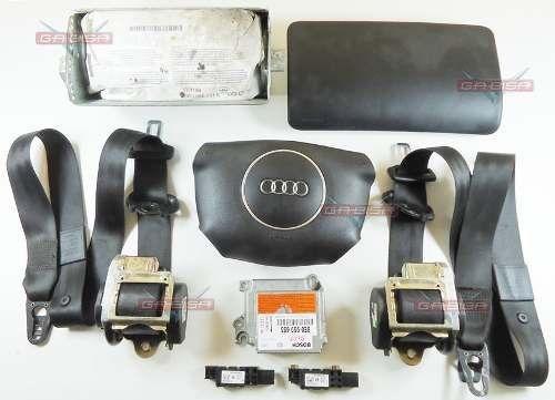 Kit Air Bag Audi A4 02 Bolsas Cintos Modulo Moldura Sensores