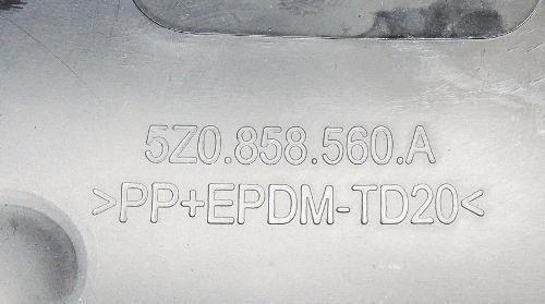 Acabamento Moldu Superior D Chave D Seta Fox 2012 5z0858560a  - Gabisa Online Com Imp Exp de Peças Ltda - ME