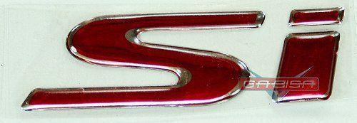 Simbolo Adesivo Emblema Si Para New Civic De 06 Á 11